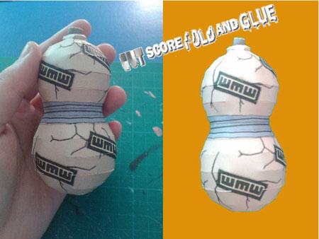 Naruto Gaara Sand Gourd Papercraft