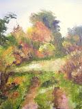 jesień pod Kiełczynem, olej, płótno, 40x50cm