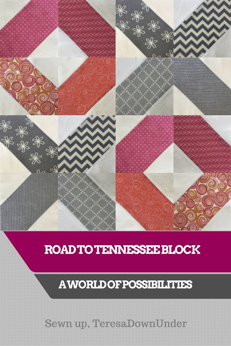 Road to Tennessee block - modern quilts