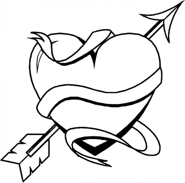 Banner Banner Coloring Pages Cool Heart