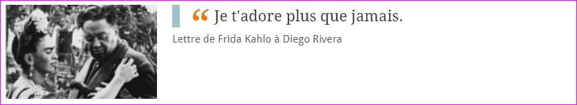 Lettre de Frida Kahlo à Diego Rivera