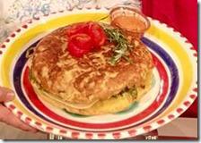 Tortilla espanola con salsa romesco