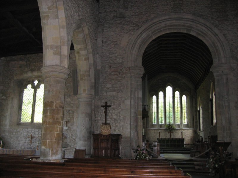 holy trinity church in bosham interior