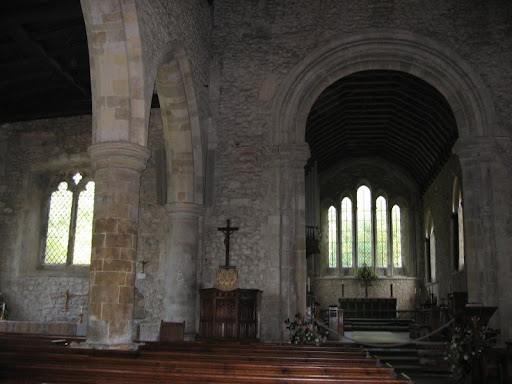 holy trinity church in bosham interior