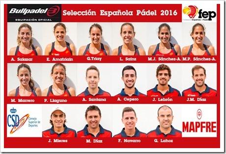 La Selección Española de Pádel preparada para el asalto a Lisboa en el Campeonato del Mundo 2016.