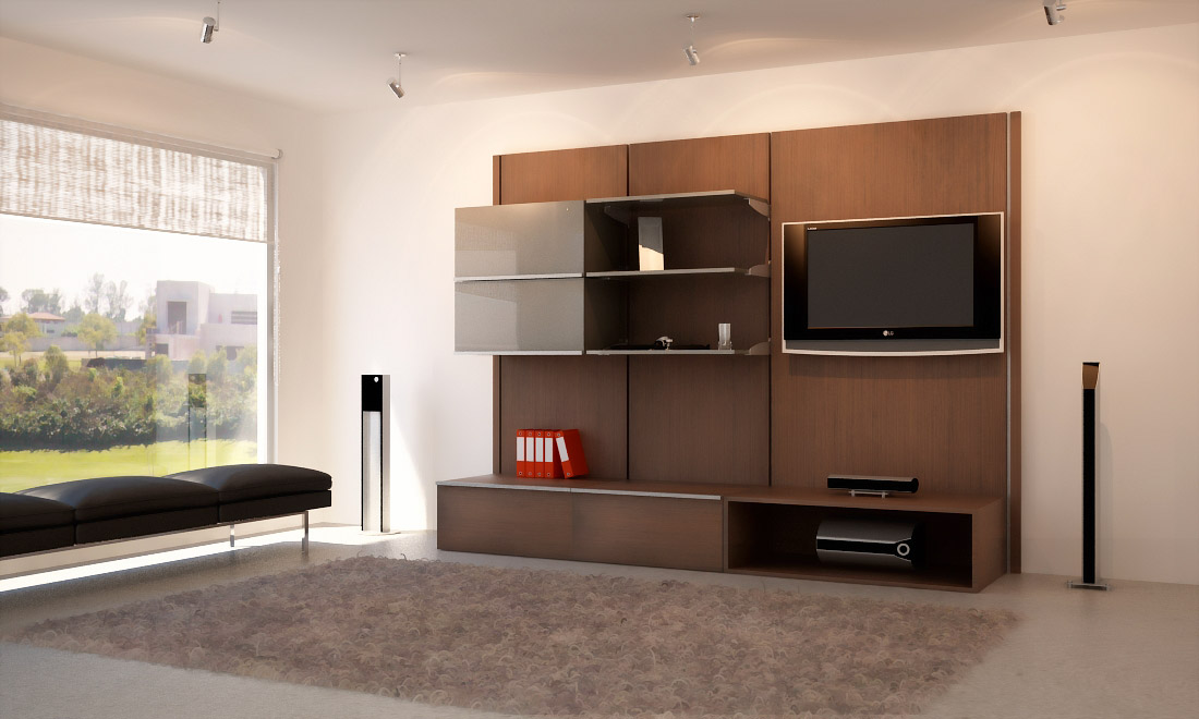 Muebles para tv minimalistas closets orbis for Muebles minimalistas