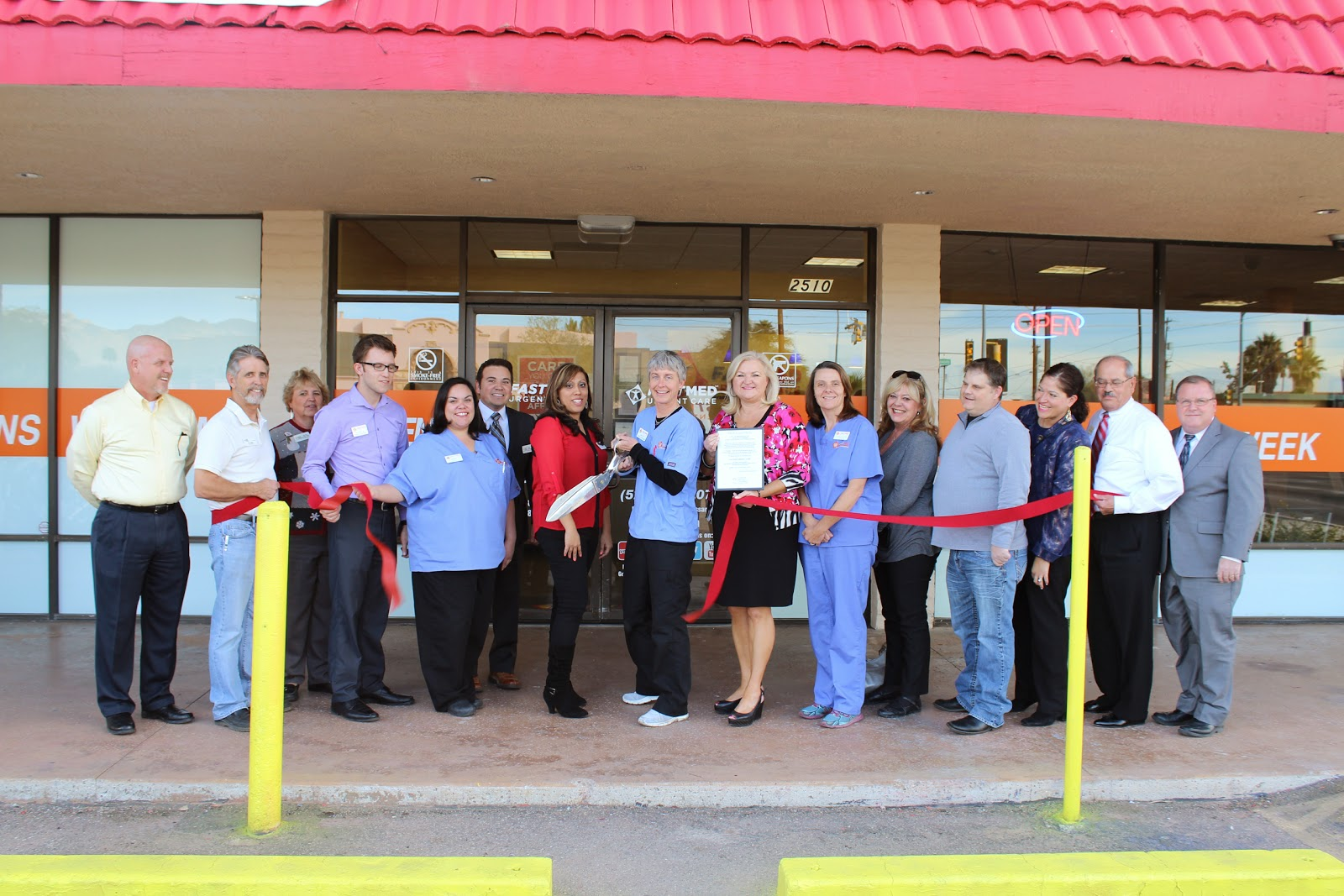 FastMed Urgent Care celebrated on Tuesday, January 7th, the opening of its seventh clinic in the Tucson area at the corner of S. Tucson Boulevard and E. Broadway Boulevard (2510 E. Broadway Blvd.), representing FastMed's 27th location in Arizona!