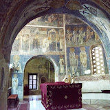 23. Frescoes on altar wall.  XI Century. The Church of St.Sophia. Ohrid