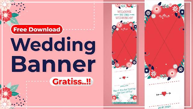 Banner Wedding Cdr Download Banner Pernikahan Cdr Gratis Templatekita Com