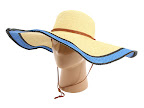 Palarii Echo Design Straw Floppy With Contrast Brim Royal Blue