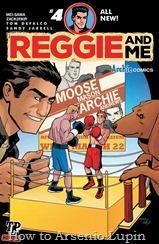 Actualizacion 28/03/2017: Gracias a Mei-Sama y a Zack2Fair de The Last Page Comics compartimos con ustedes la cuarta entrega de esta miniserie de cinco números. Reggie inicia su plan maestro para enfrentar a Moose contra Archie Andrews, un plan que terminara con ambos expulsados de Riverdale High. Mientras tanto Vader cuestiona la fascinación de su amo con Midge Klump. ¿Por qué es tan Reggie fascinado por ella? ¿Qué es lo que la hace tan especial? ¡Encuentra la respuesta en el penúltimo capítulo de esta miniserie!