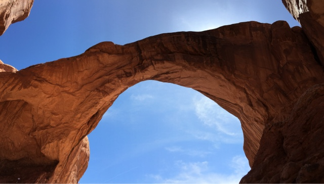 Double arch from below
