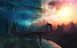 Ufo On Dark Planet