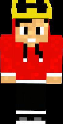 ele de blusa vermelha