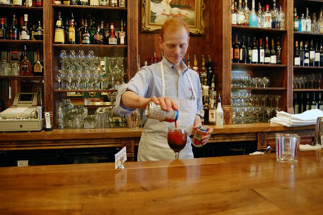 Don White, owner of Skylark's Hidden Cafe in Fairhaven, prepare's Bellingham's favorite Bloody Mary.  Credit: Bellingham Whatcom County Tourism