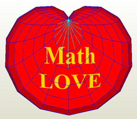 Math LOVE Papercraft