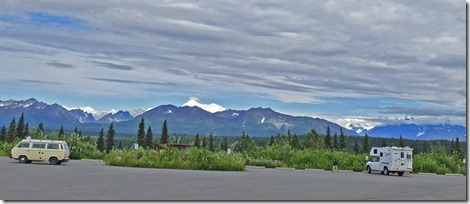 View of Mt. Denali and surrounding area from North View Point, Denali State Park