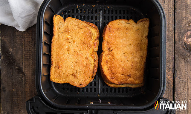 grilled cheese in air fryer finished