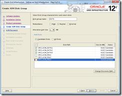 Oracle Grid Infrastructure 12c Installer - Create ASM Diskgroup