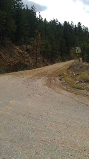Here's where Poorman's road starts.   Don't let the gravel scare you, its mostly hard pack.