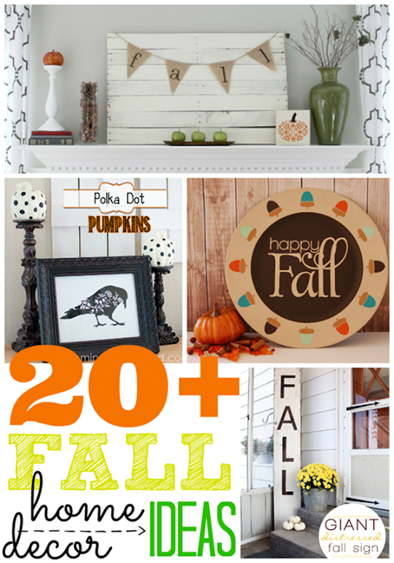 Over 20 Fall Home Decor Ideas #gingersnapcrafts #fall #homedecor #linkparty #features_thumb[2]