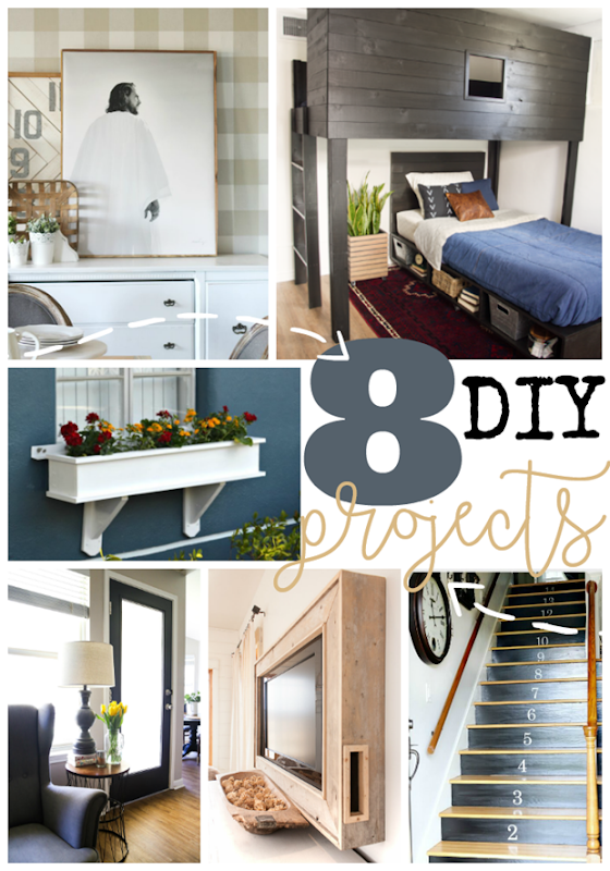 8 DIY Projects at GingerSnapCrafts.com #DIY #forthehome
