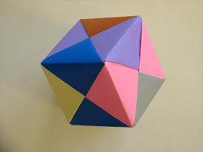 Cube from 6 Sonobe units.
