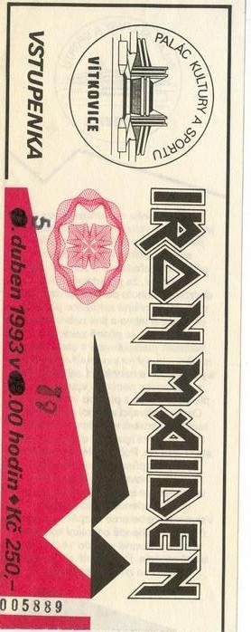 IRON MAIDEN-OSTRAVA 1993-REAL-LIVE TOUR-5th APRIL 1993