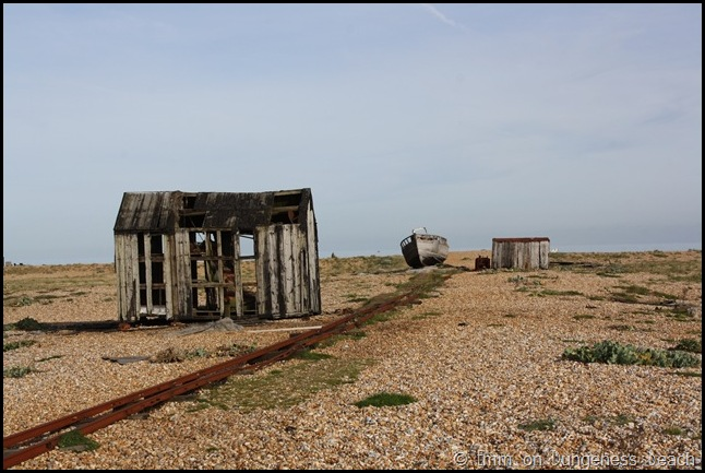 An abandoned hut on Dungeness beach