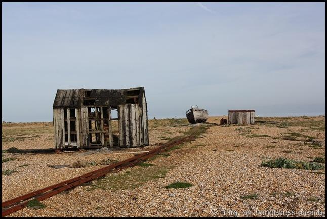 An abandoned hut on Dungeness beach