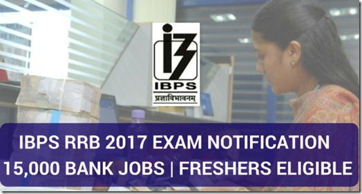IBPS RRB 2017 Notification