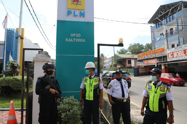 Disposal Dua Bom di PT PLN UP2D Kaltimra, Gegana Kaltim Simulasi Tanggap Darurat Ancaman Bom