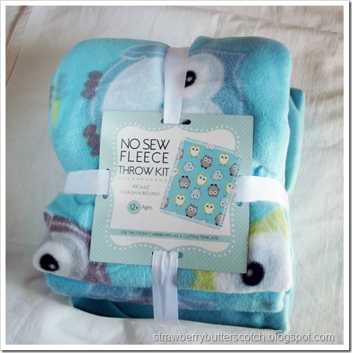 No Sew Fleece Throw Blanket Kit