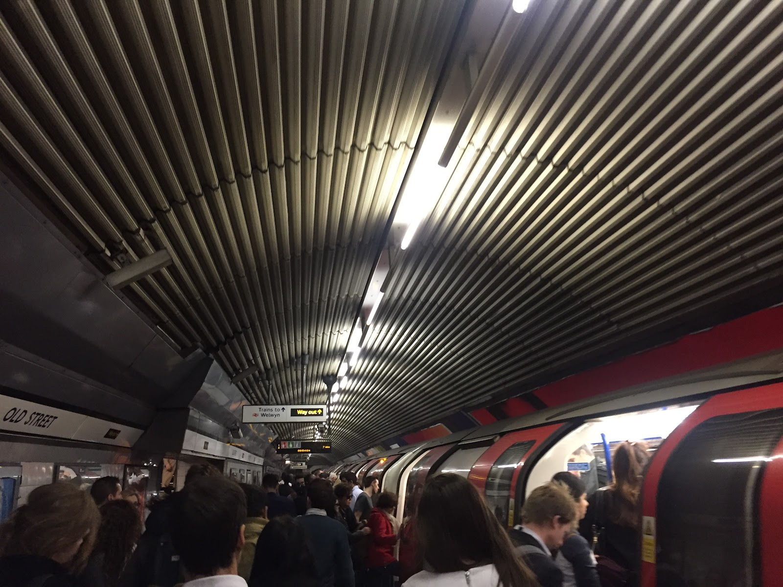 commuting in London tube