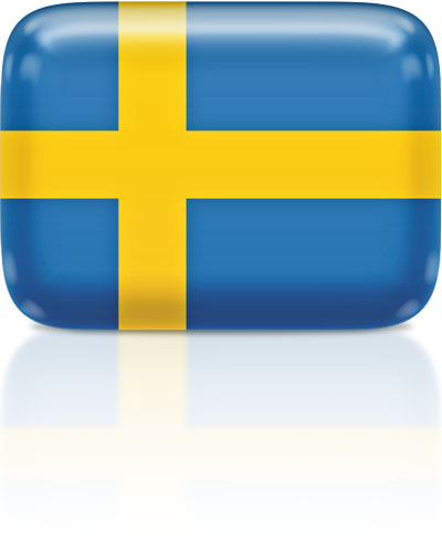 Swedish flag clipart rectangular
