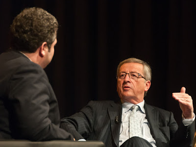 Juncker im Gespräch mit Christoph Wirtz