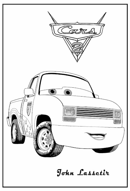 Cars  Printable Coloring Pages  Cars Coloring John Lassetire Cars Coloring  Lizzie Cars Coloring The