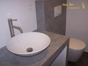 Salle de bains - Enduit a la chaux