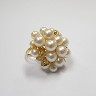 14K Gold and Pearl Cocktail Ring