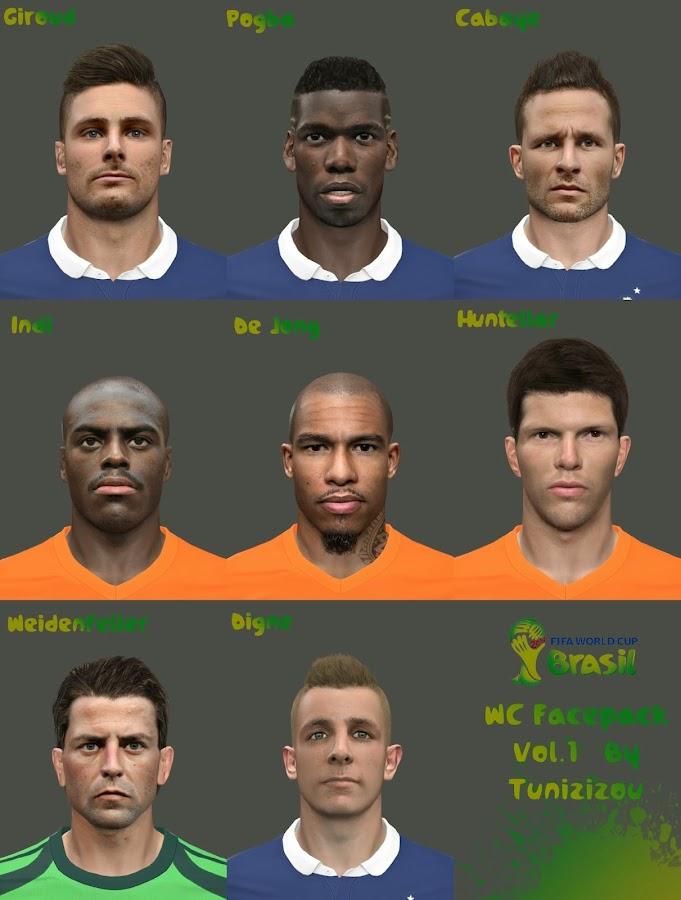 Facepack Copa do Mundo V1 - PES 2014