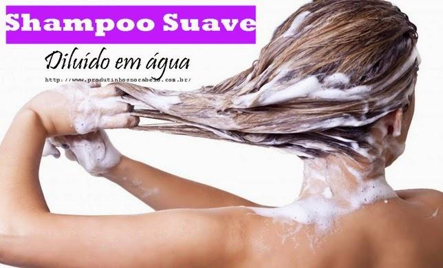 Diluir shampoo com agua