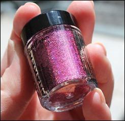 StarGazer Glitter Shaker Swatches Lazer Pink