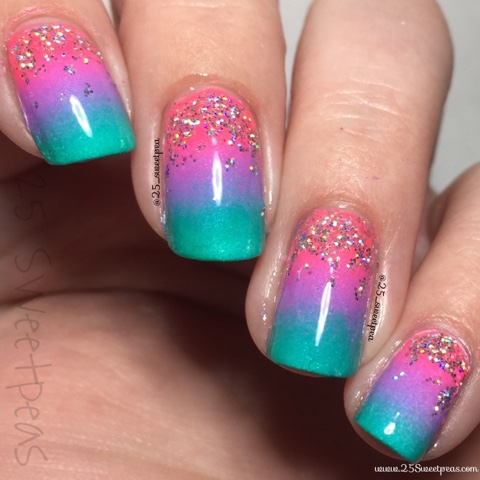 China Glaze Neon Gradation - 25 Sweetpeas