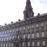 crossing Christiansborg Palace in Copenhagen, Copenhagen, Denmark