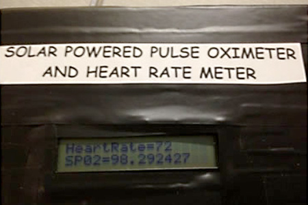 pulse oxymeter and heart rate meter