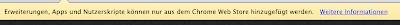 Google Chrome Warnung bei der Installation