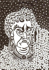 584 Zentangle Japanese Man
