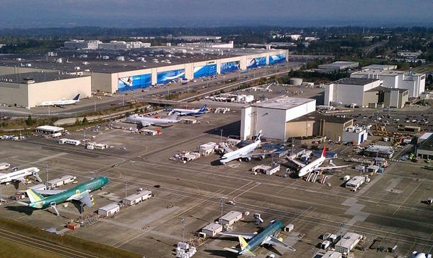 Aerial Boeing Everett Factory