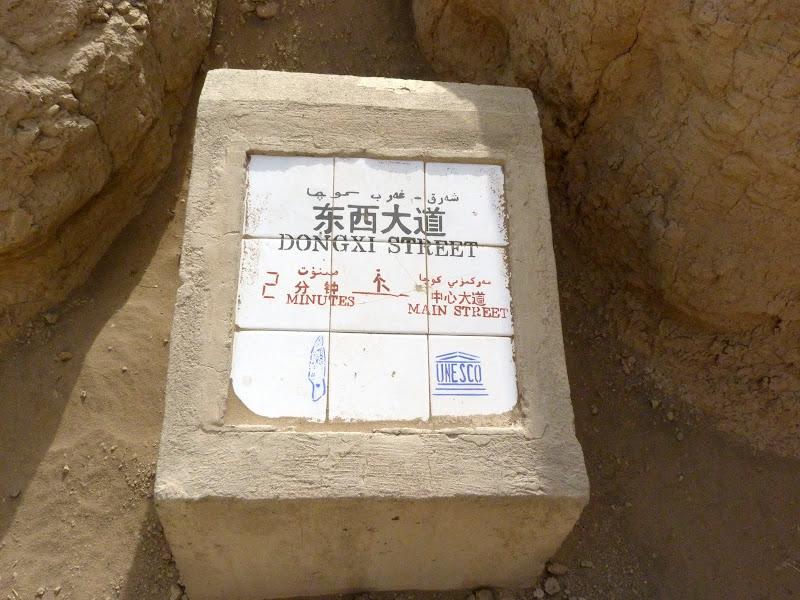 XINJIANG.  Turpan. Ancient city of Jiaohe, Flaming Mountains, Karez, Bezelik Thousand Budda caves - P1270777.JPG