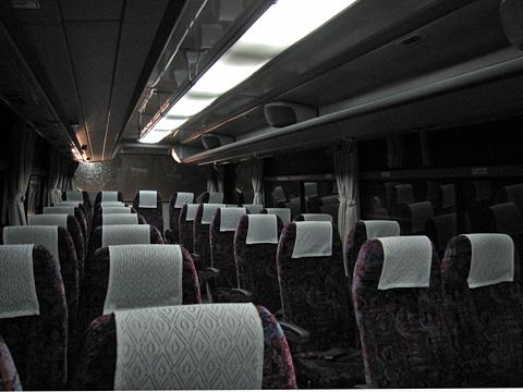 函館バス「函館江差線」 T3384 車内
